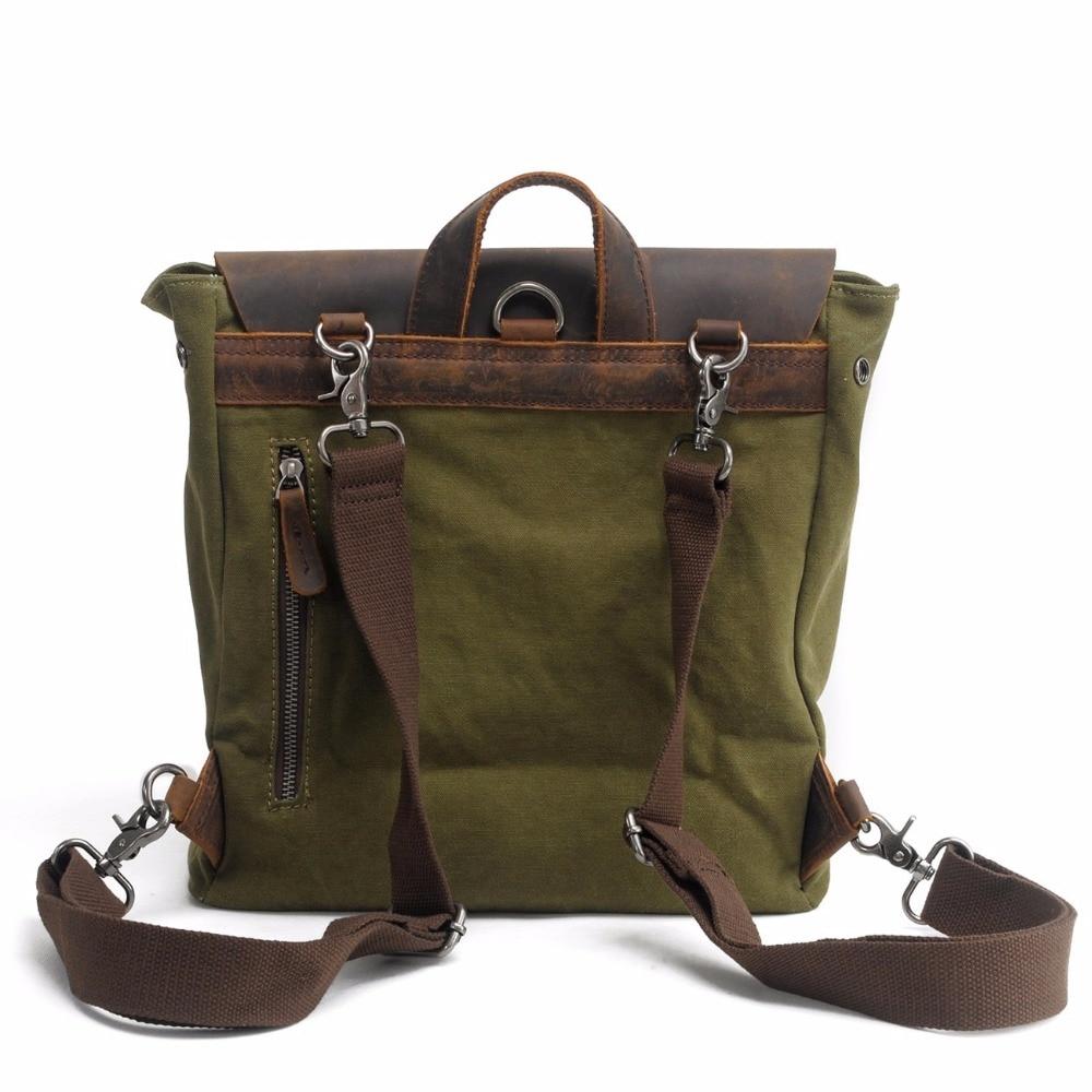 Bagaj ve Çantalar'ten Sırt Çantaları'de M103 Yeni Vintage Sırt Çantası Deri Tuval Erkek Sırt Çantası okul çantası Askeri Sırt Çantası Kadın Sırt Çantası Erkek Sırt Çantası Sırt Çantası Mochila'da  Grup 2