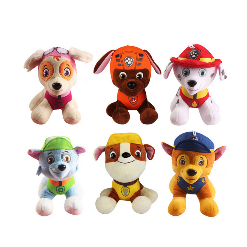 20CM Canine Patrol Dog Toys Russian font b Anime b font Doll Action Figures Car Patrol