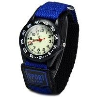 New Super Light Luminous Quartz Kids Sports Watch Canvas Nylon Strap Military Wristwatch For Boy Students