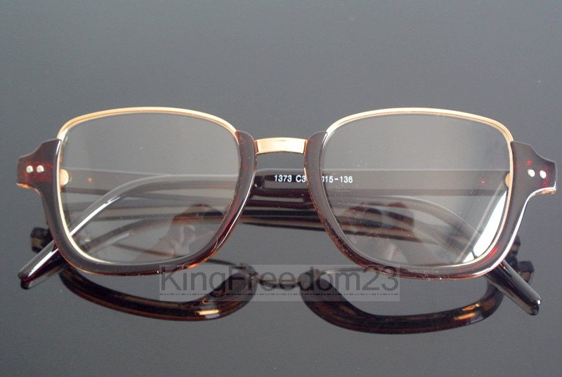 Vintage Coklat Tea Frame Kacamata Pria Wanita Bening Kacamata Retro Penuh  Rim Miopia Optik RX Dapat fd36f4e5de