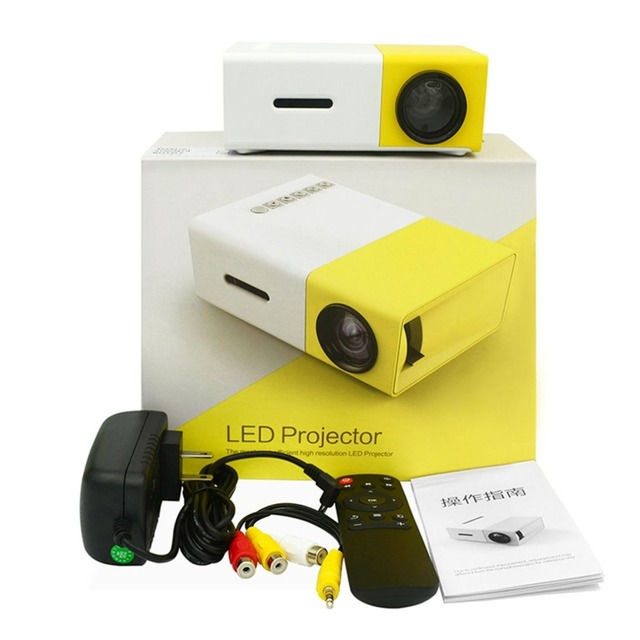 Big Sale LED Mini Home Projector 320*240 HD 1080P HDMI USB Projector Ultra Portable Media Player Beamer Built-in Battery  US Plug