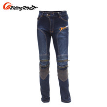 Riding Tribe Mens Motorcycle Hip Protector Jeans Motocross Downhill Pants Cotton Motorcycle Riding Anti Fall Jeans Trousers