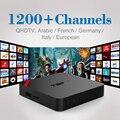 Android Caixa de Tv Quad Core Com 1 Ano 1200 + Francês Árabe IPTV conta Ao Vivo TV Kodi Pré-carregados de Mídia Smart Tv Box Iptv Arábica Livre