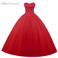 Real Photo Sweetheart Beaded Ball Gown Sweet 16 Dress Red Quinceanera Dress