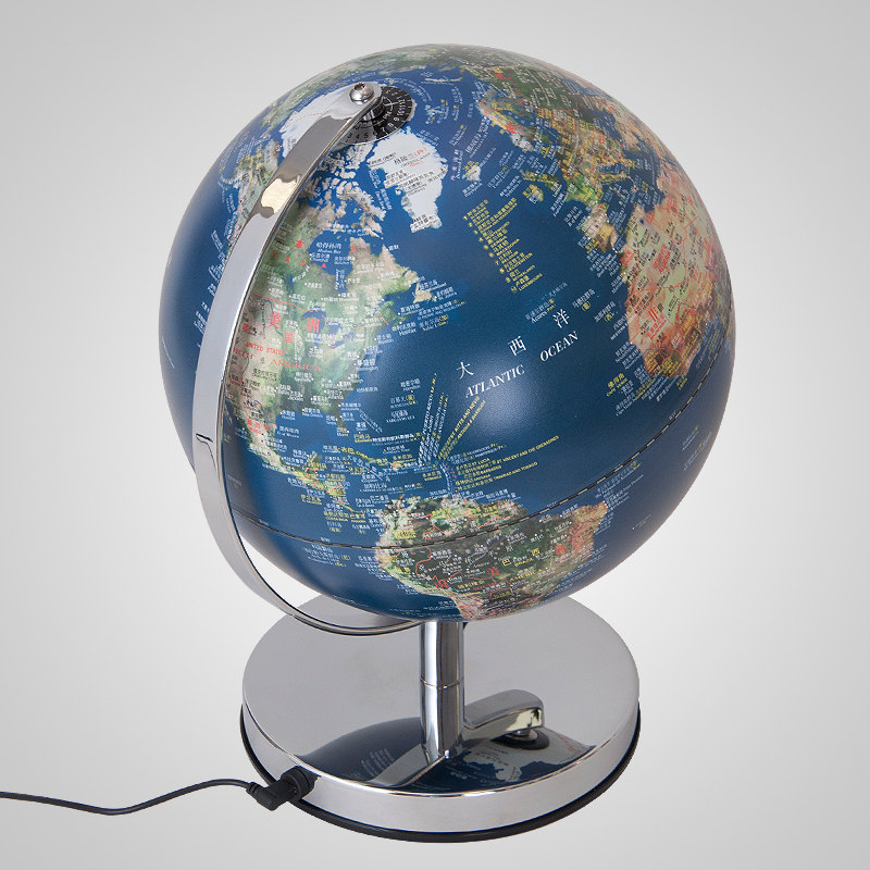 Cm LED Globe Table Lamp Geography Teaching Satellite Population - World satellite map lights