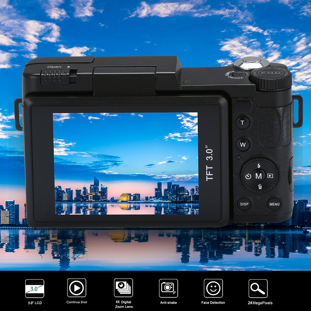 Photo Video Camcorder HD 1080P Handheld Digital Camera 16X Digital Zoom 20A Drop Shipping(China)