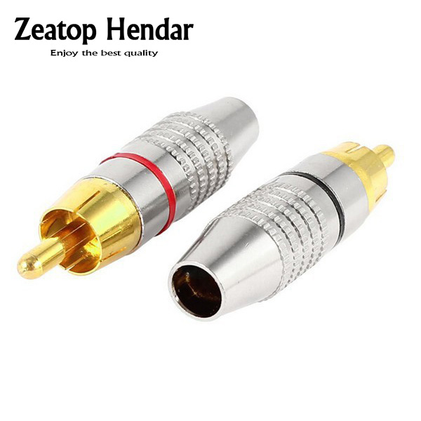 20pcs gold-plated  RCA Male Plug Solder  Audio Video Adapter connector