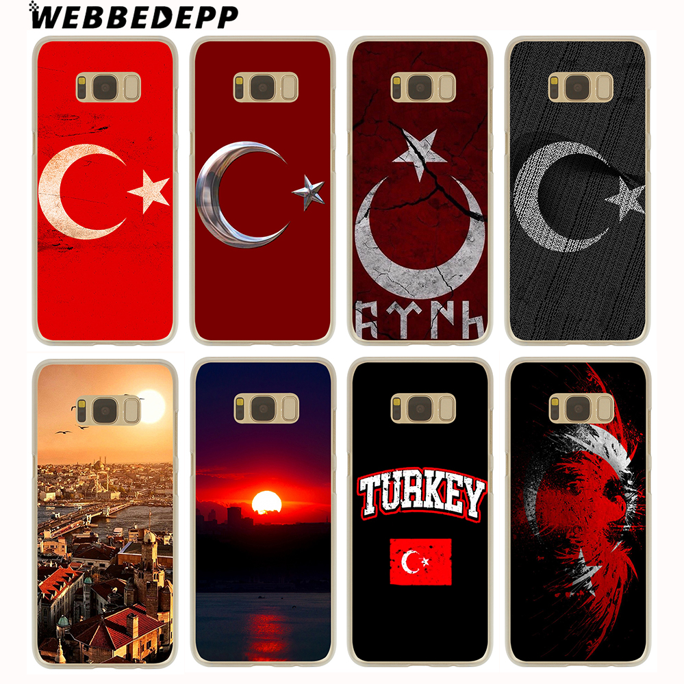 WEBBEDEPP Typography Flag of Turkey Antalya Hard Transparent Cover Case for Galaxy S9 S8 Plus S7 S6 Edge S5 S4 S3 ...
