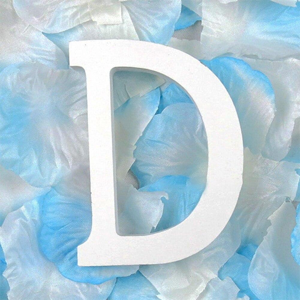 3D деревянные буквы letras decorativas персонализированное Имя Дизайн Искусство ремесло деревянные украшения letras de madera houten буквы - Цвет: D