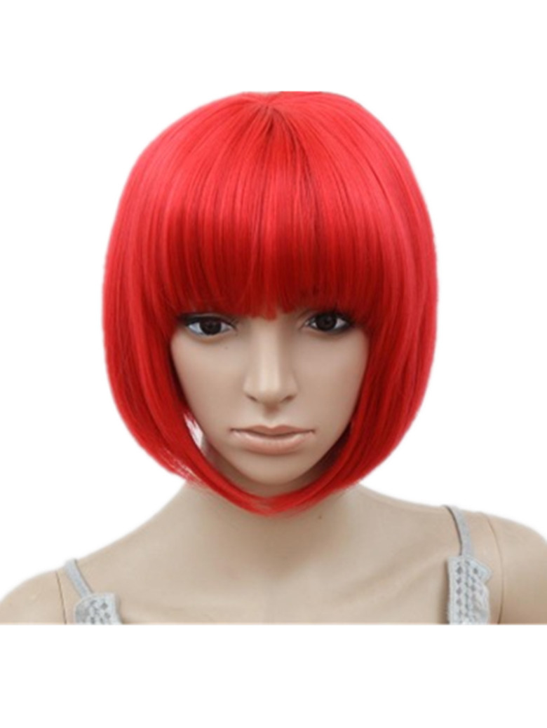 Diligent Bob Wig Fei-show Synthetic Heat Resistant Short Wavy Hair Peruca Pelucas Costume Cartoon Role Cos-play Blonde Fringe Hairpiece Synthetic None-lacewigs Hair Extensions & Wigs