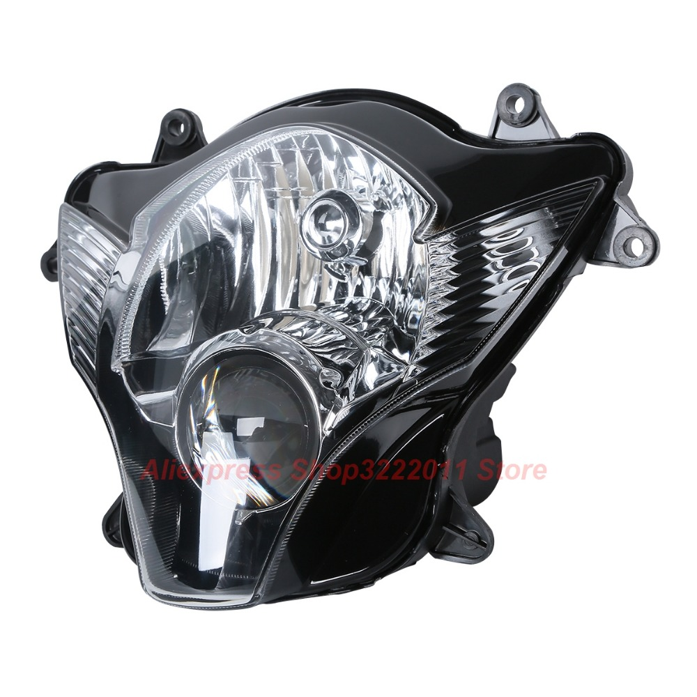 Clear Lens Motorcycle Plastic Front Light Lamp Case For Suzuki GSXR600 GSXR750 2006 2007 Headlight Housing Set