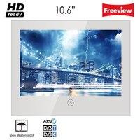 Souria 10,6 дюймов Зеркало Стекло USB ТВ Ванная комната IP66 Водонепроницаемый светодиодный телевизор Роскошная небольшая Экран гостиничный телев