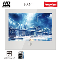 Souria 10.6 inch Mirror Glass USB TV Bathroom IP66 Waterproof LED Television Luxury Small Screen Hotel TV