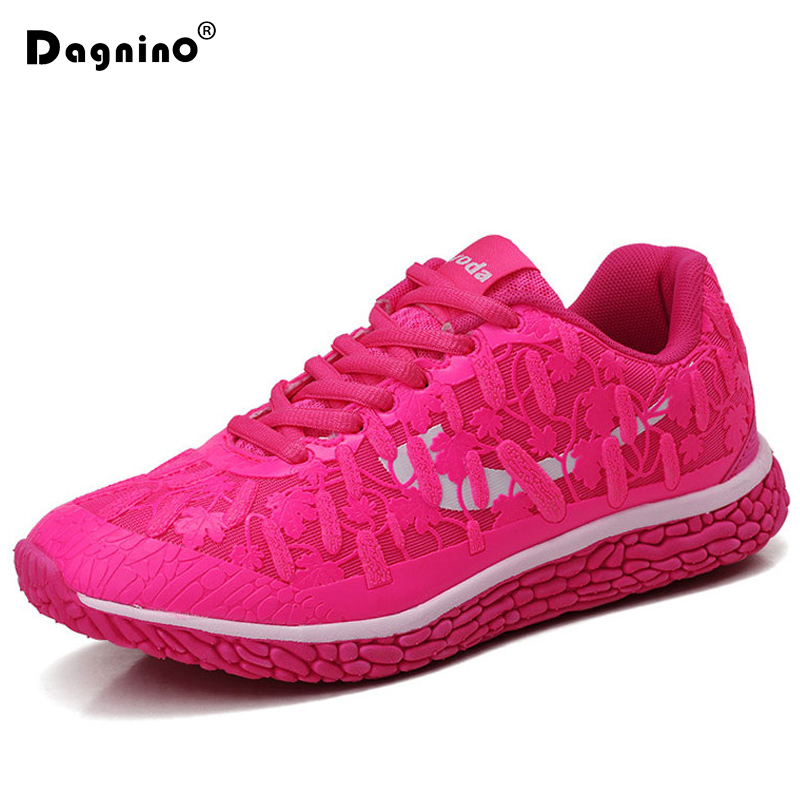 DAGNINO Fashion Breathable Walking Casual Shoes Women Flats Noctilucent 2018 Spring Autumn Woman Light Sneakers Chaussure Femme free shipping 2017summer autumn new fashion women shoes casual flats solid breathable simple women casual white shoes sneakers