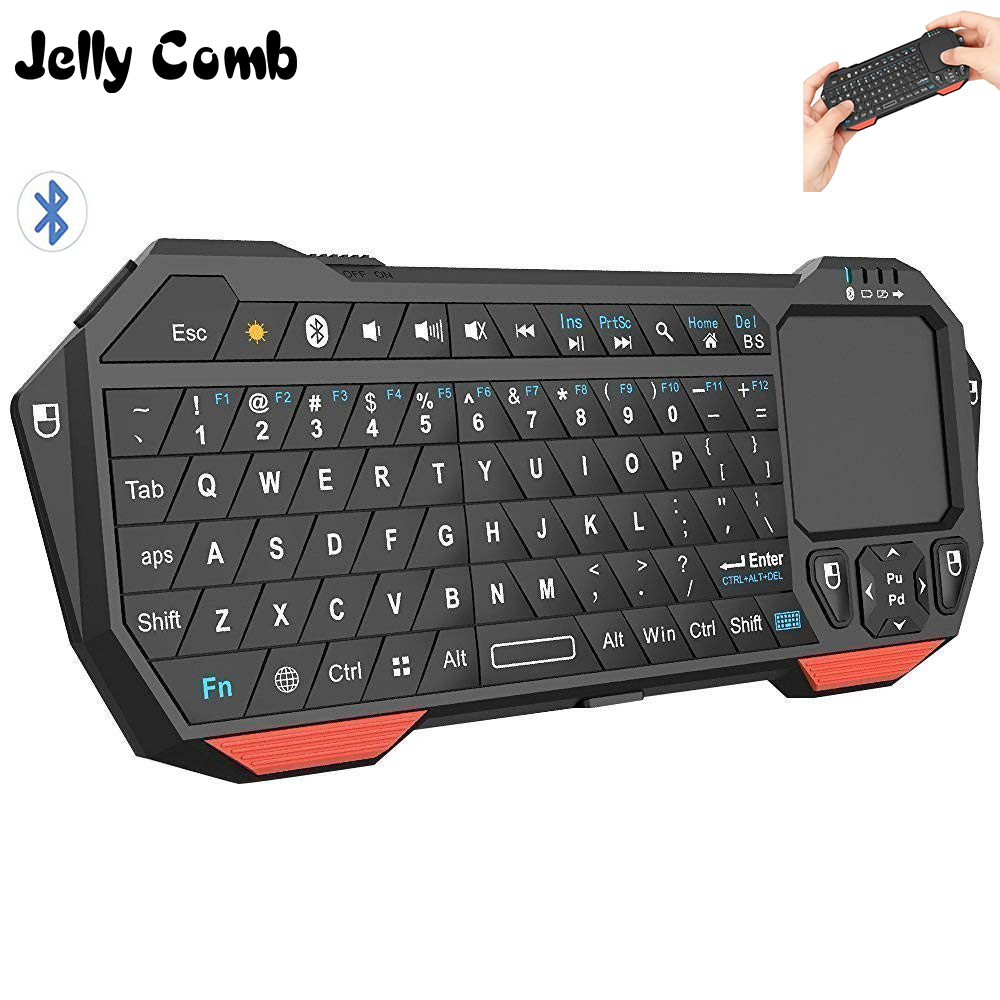 Jelly Comb Wireless 3.0 Bluetooth Keyboard With Touchpad For Smart TV Laptop Support IOS Window Android System Portable Keyboard