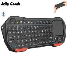 Jöle tarak kablosuz 3.0 Bluetooth klavye akıllı TV için Touchpad ile dizüstü bilgisayar desteği IOS pencere Android sistemi taşınabilir klavye