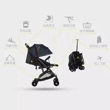 0e4712867 ARS cochecito de bebé de ventanas puede sentarse y mentira ligero plegable  paraguas de verano coche bb palanca coche amortiguado.