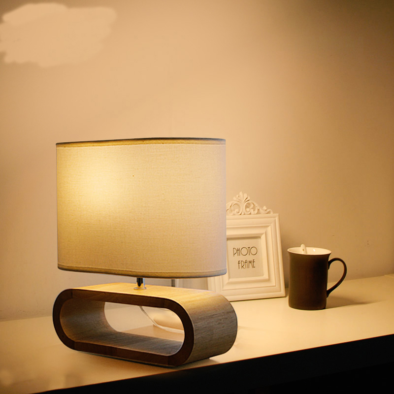 New Japanese creative wood table lamps for living room Led Bed lamp bedside light table light Tafellamp lamps bedroom|LED Table Lamps| |  - title=