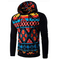 Hot Sale 2016 Stripe Prints Mens Hooded Sweatshirt Stitching Raglan Sleeve Slim Fit Pullover Hoodies Jacket Men Hoody Tracksuit