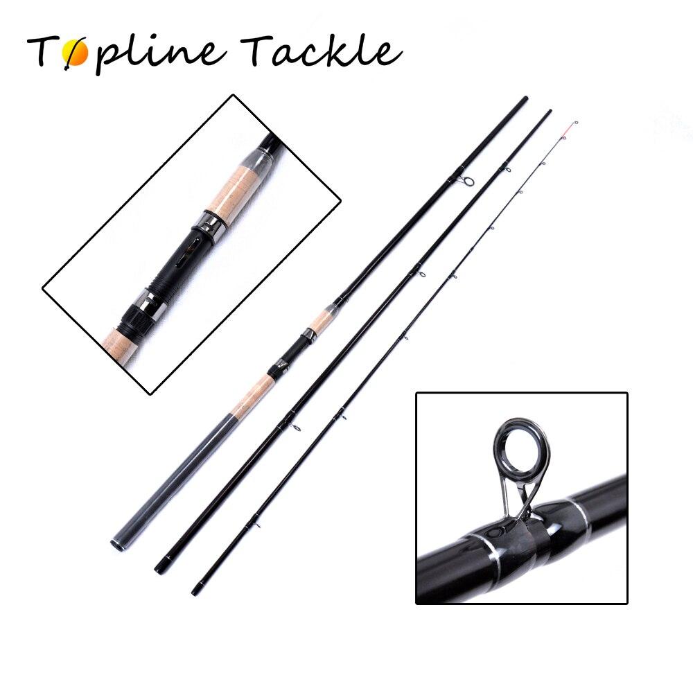 ToplineTackle Cupido Katsuro chargeur d'alimentation 3.6 M et 3.9 M canne à pêche carpe 3 Sections tige d'alimentation en carbone