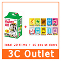 Fujifilm Mini 7 s, 25, 8, 70,50 s, 90 SP-1 Instax Mini Película, 20 unids/caja, envío Gratis