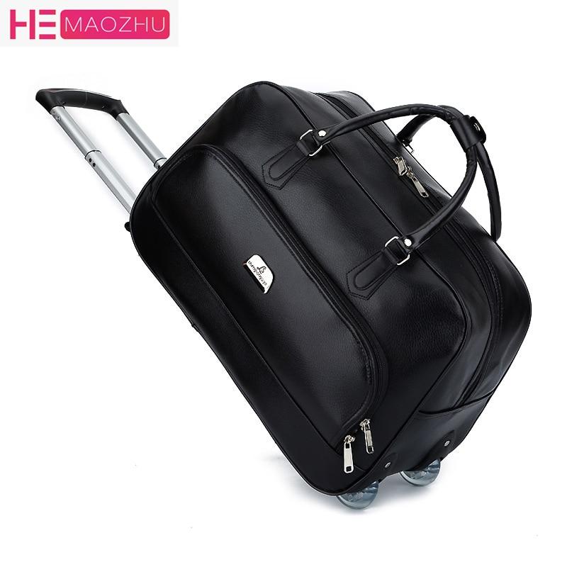 de346c3b0dbd Большой колесный спортивная сумка тележка Для женщин мягкая Чемодан  дорожные сумки на колесах модельер Duffel Водонепроницаемый