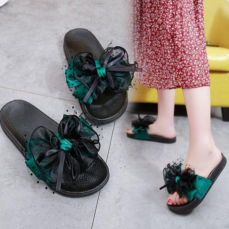 new style 01748 fba37 Maison Fleur Sandales Tongs Pantoufles Pour Arc Sexy bleu Plage Mode D été  Noir Plates 3596 Chaussures Grand 2019 Extérieurs Femmes De vert ...