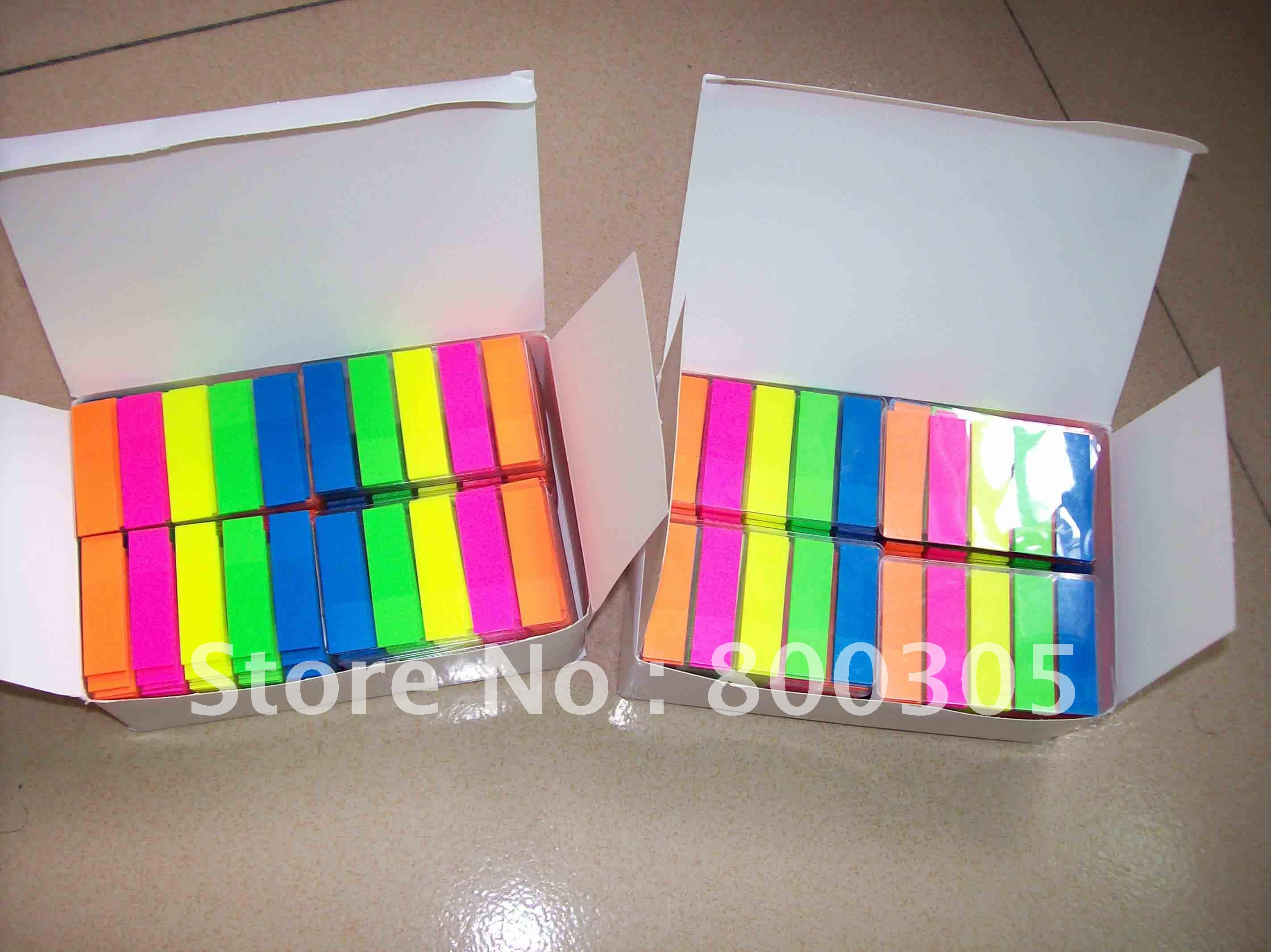 Top selling Free shipping to Brazil sticky post note color film index 5 color 20sheet/strip.200 or 300pc/lot