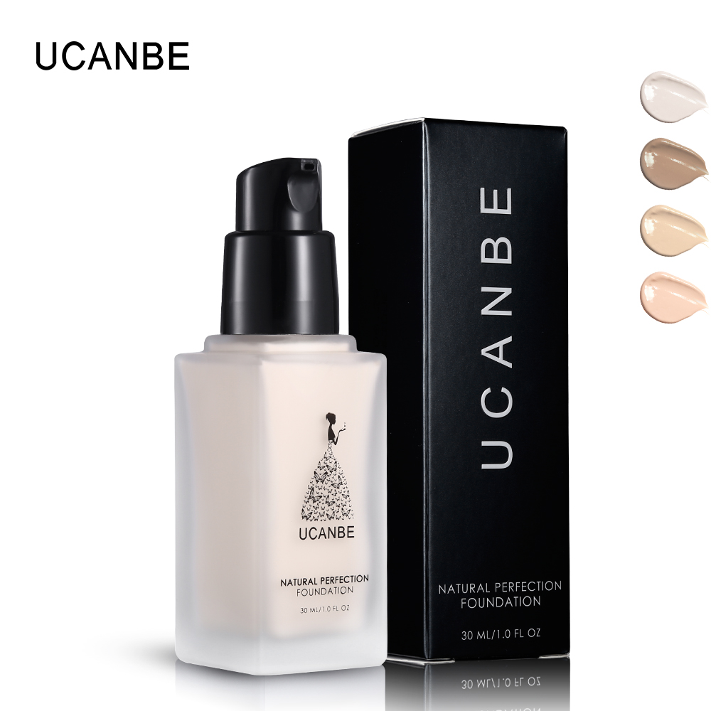 UCANBE Base Makeup Liquid Foundation Natural Perfect Coverage Fit Skin Waterproof Primer Cream Moisturizing Concealer Make Up image