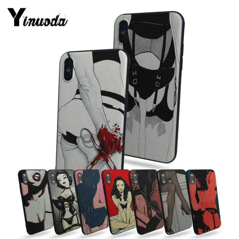 Yinuoda Sexy cartoon girl On Sale Luxury Cool Phone Accessories Case For