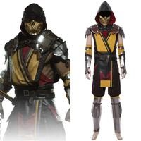 Game Mortal Cosplay Hanzo Hasashi Scorpion Cosplay Costume Adult Men Suit Outfit Mask Full Set Halloween Carnival