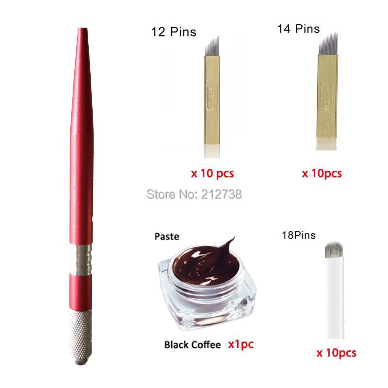 Livraison Gratuite Microblading Pen KITS manuel stylo pâte à - Tatouages et art corporel - Photo 2