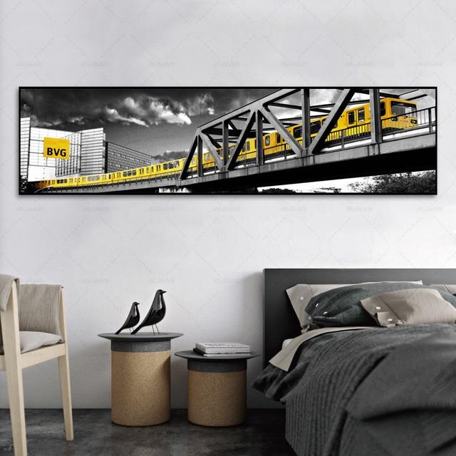 À vendre Noir peinture rouge Bus jaune voiture Train toile ...