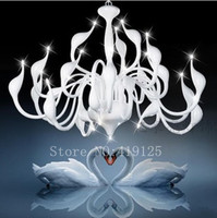 Free Shipping Hot Selling 24 Light Fashion Swan Chandelier Modern Lamp Wholesale Retail Red White Black