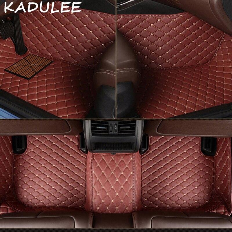 KADULEE PU leather car floor mats for Alfa Romeo Stelvio 2017 2018 Custom foot Pads automobile carpet car coversKADULEE PU leather car floor mats for Alfa Romeo Stelvio 2017 2018 Custom foot Pads automobile carpet car covers