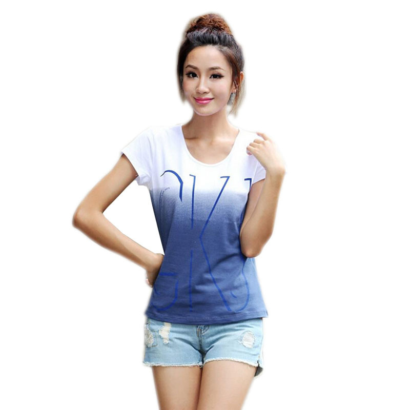 New 100 Cotton T Shirt Women Short Sleeve Shirts O Neck