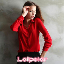 цена на 5 Colors Work Wear 2018 Women Shirt Chiffon Blusas Femininas Tops Elegant Ladies Formal Office Blouse Plus Size XXL Laipelar