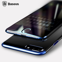 BASEUS Phone Cases For Apple IPhone 7 7 Plus Luxury Plating Frame Hard PC Cover Coque