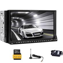 HeadUnit Stereo CD MP3 win8 EQ Navigator GPS Map Car DVD Double Din 7 Inch Auto Radio MP4 Auto 3D System PC TV FM AM