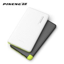 Pineng 5000 мАч мобильный Мощность банк Быстрая зарядка внешний Батарея Портативный Зарядное устройство литий-полимерный Батарея для Android телефоны