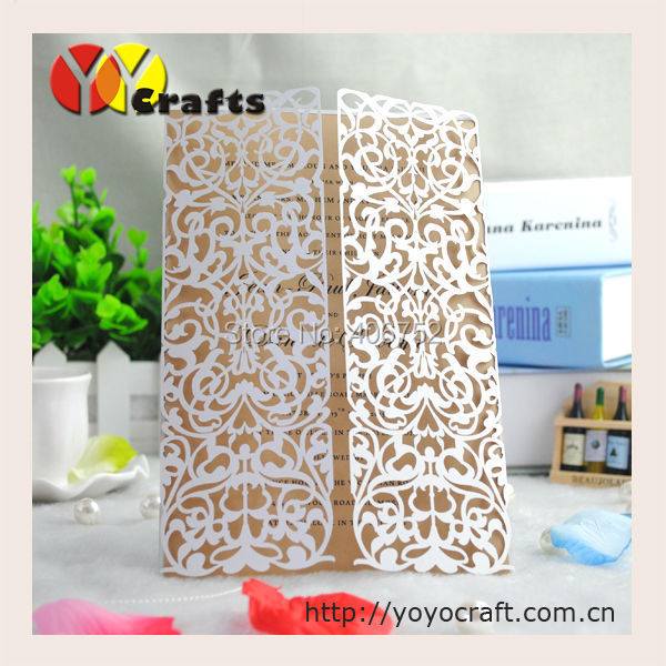 Popular exquisite design in japan white floral lace invitation card popular exquisite design in japan white floral lace invitation card laser cut paper gatefold format holiday stopboris Gallery