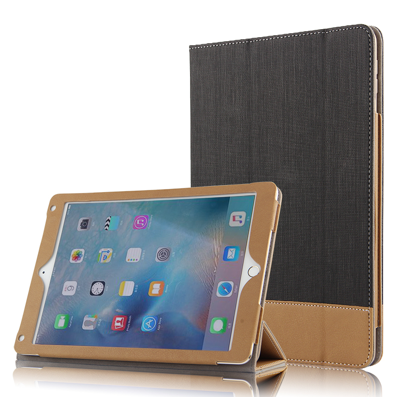 все цены на Case For Apple iPad Air 2 Protective Smart cover With Stand Card Faux Leather smar Protector For iPad6 Tablet 9.7