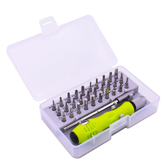 Juego de destornilladores de precisión 32 en 1, Kit de puntas de destornillador magnético, reparación de herramientas de mantenimiento de cámara de teléfono móvil IPad