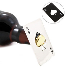 Открывалка для пивных бутылок, покер, игральная карта, Туз пиков, инструмент для бара, открывалка для крышки соды, кухонные гаджеты, инструменты, открывалка для бутылок