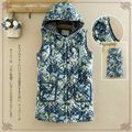 2017 New Spring Brand Women Print Coat Mori Girl Clothes Outwear Casual College Wind Students Thick Quilted Hooded Denim Vest