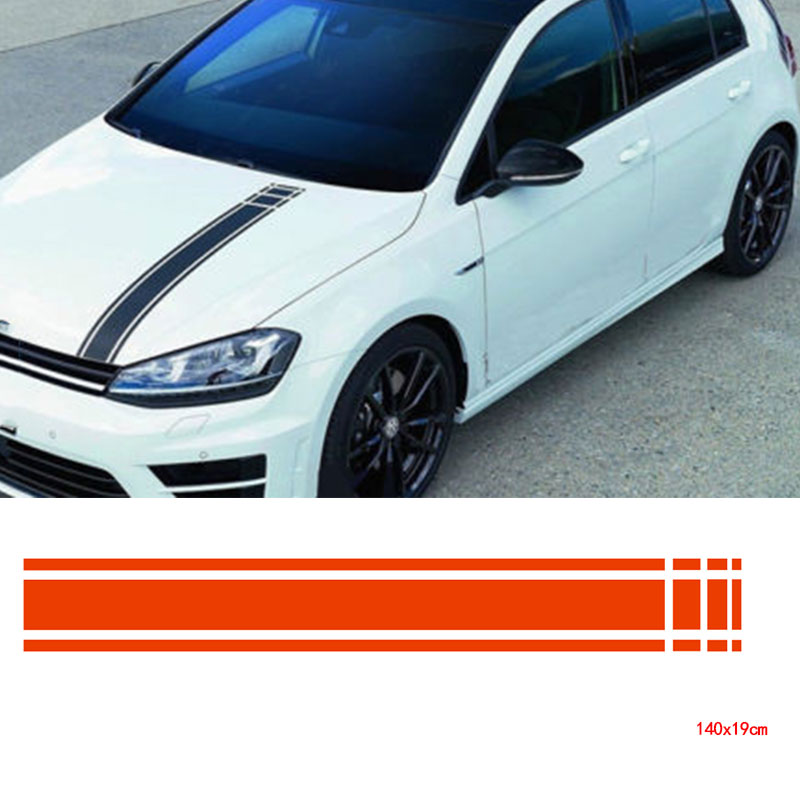 Car Stickers Automobiles & Motorcycles Rational Luluda Automobile,car Racing Rally Stripes Hood Deals Vinyl Auto Front Stickers Da3990