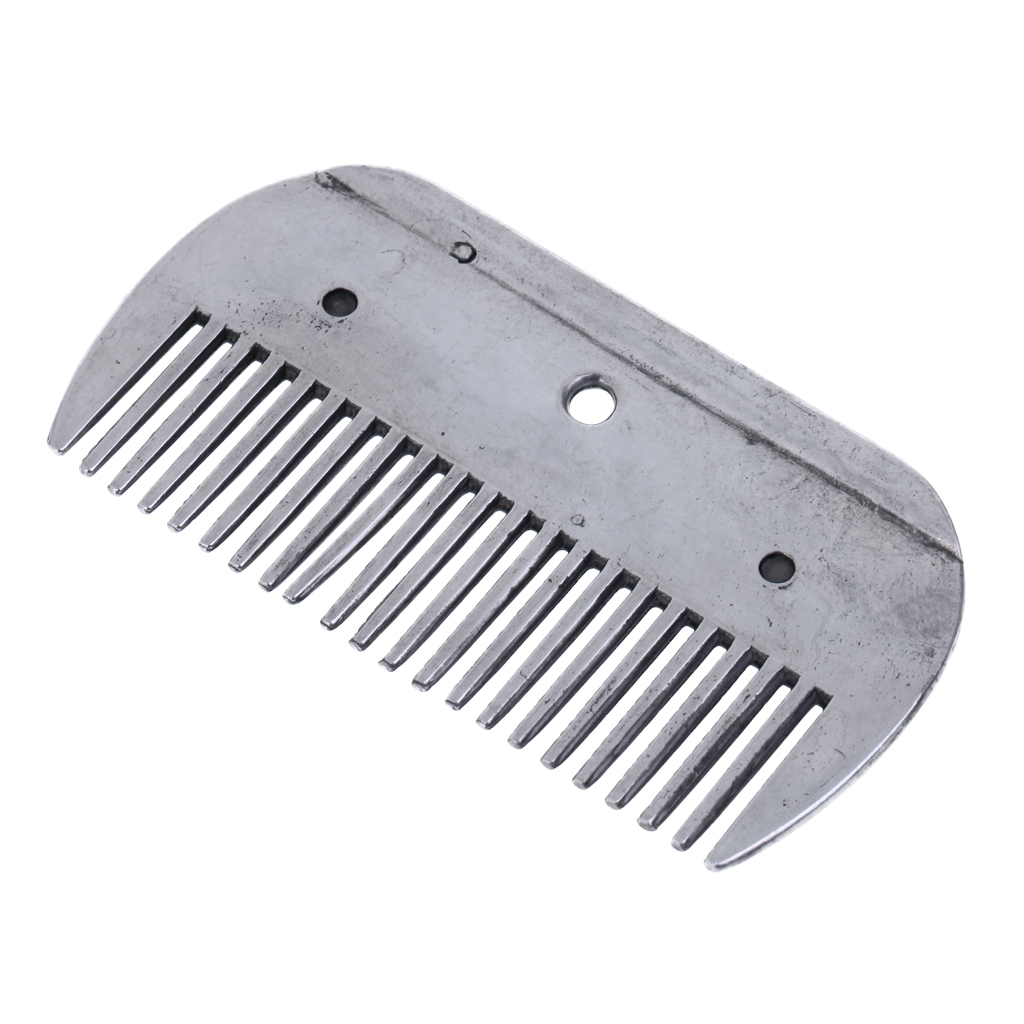High Quality Stainless Steel Rustless Pony Horse Grooming Comb Equestrian Tools Polished Horse Grooming Comb