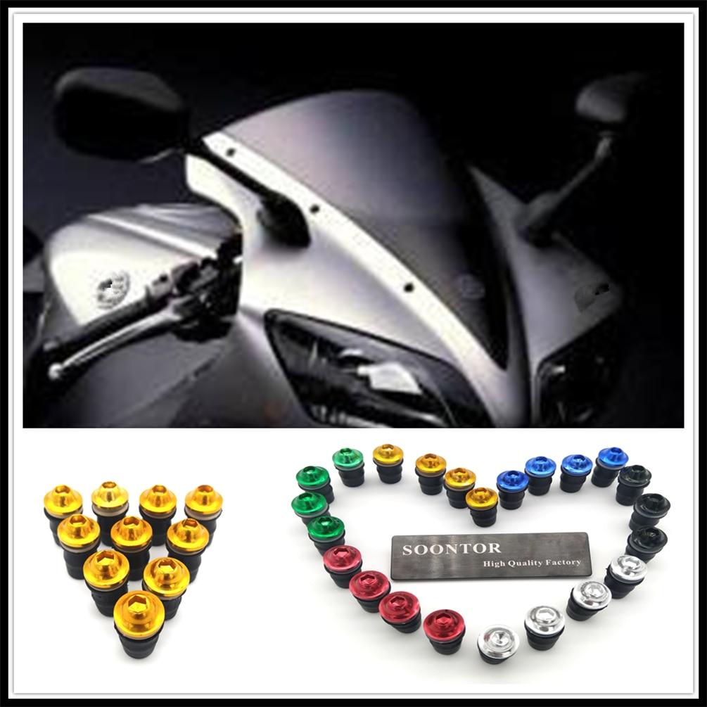 مسمار لولبي لإصلاح الزجاج الأمامي للدراجة النارية لـ Kawasaki Z1000 ZX10R ZX12R ZX6R ZX636R ZX6RR ZX9R NINJA 300 250R