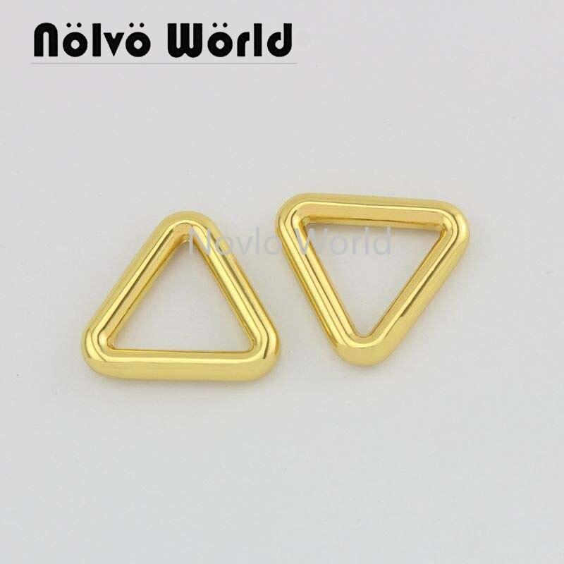 Wholesale 500pcs, 4 Colors Accept Mix Color, 17*15mm, Metal Buckle Triangle Shape Buckle For Handbag Leather Craft Accessories