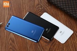 Image 2 - Оригинальный стеклянный чехол для Xiaomi 6 Mi 6 Mi6 MCE16 задняя крышка для батареи телефона задняя крышка для телефона